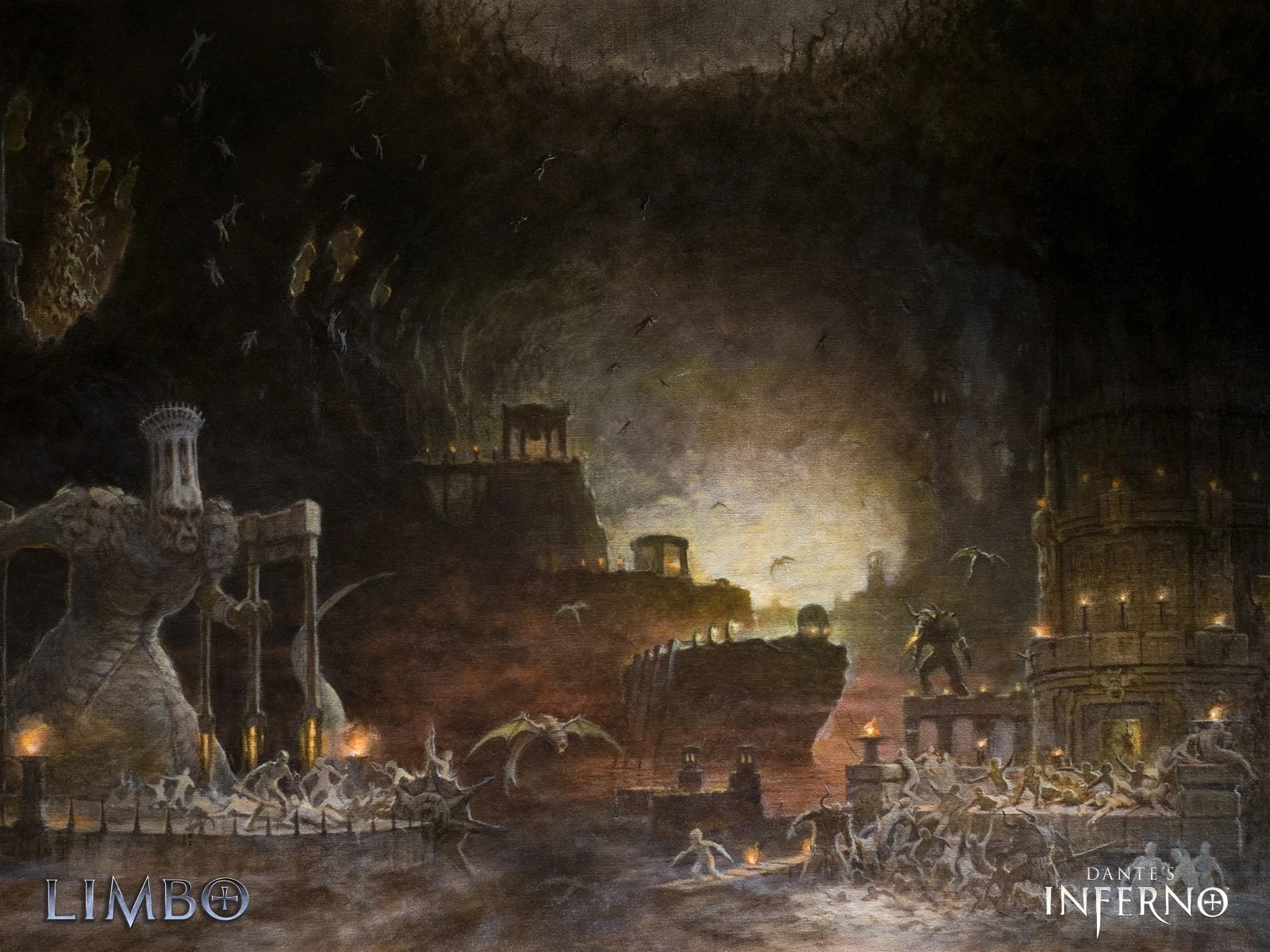 Dante On This Page Quotes Wallpaper Limbo Dante S Inferno Wiki Fandom Powered By Wikia