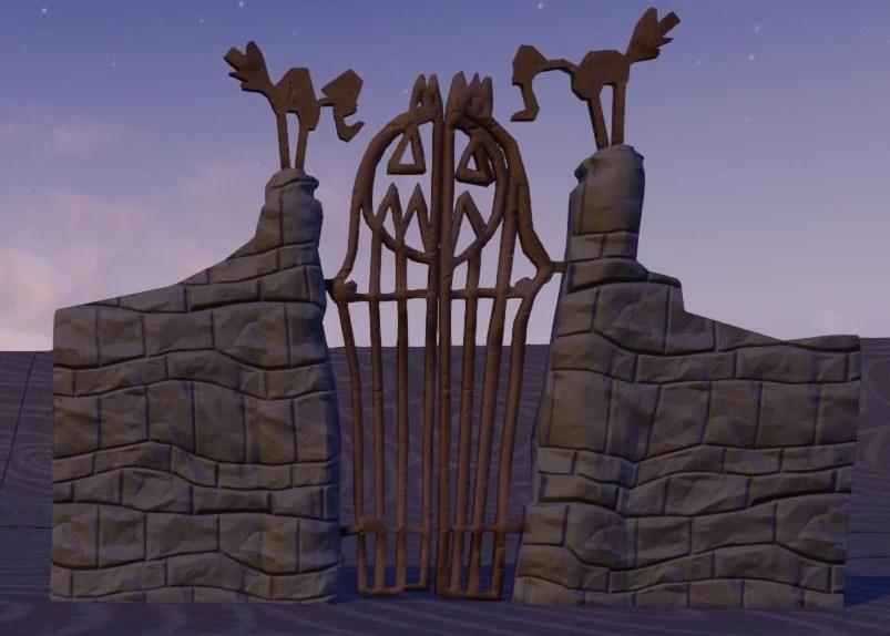 halloween town gate disney