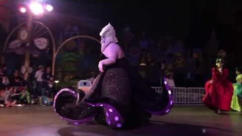 Video - Ursula Leads Disney Villains Frightfully Fun Parade Mickey's Halloween Party 2017 Disneyland | Wickedpedia | FANDOM powered by Wikia
