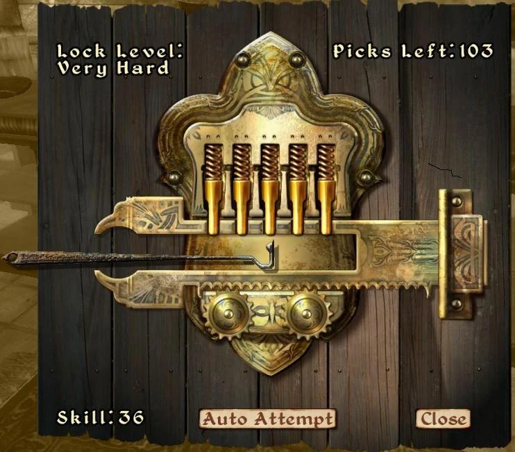 lockpicking oblivion elder scrolls