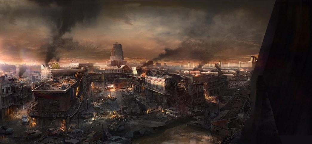 Wolfenstein The New Order Hd Wallpaper Cajun Wasteland Fallout Gravel Pit Wikia Fandom