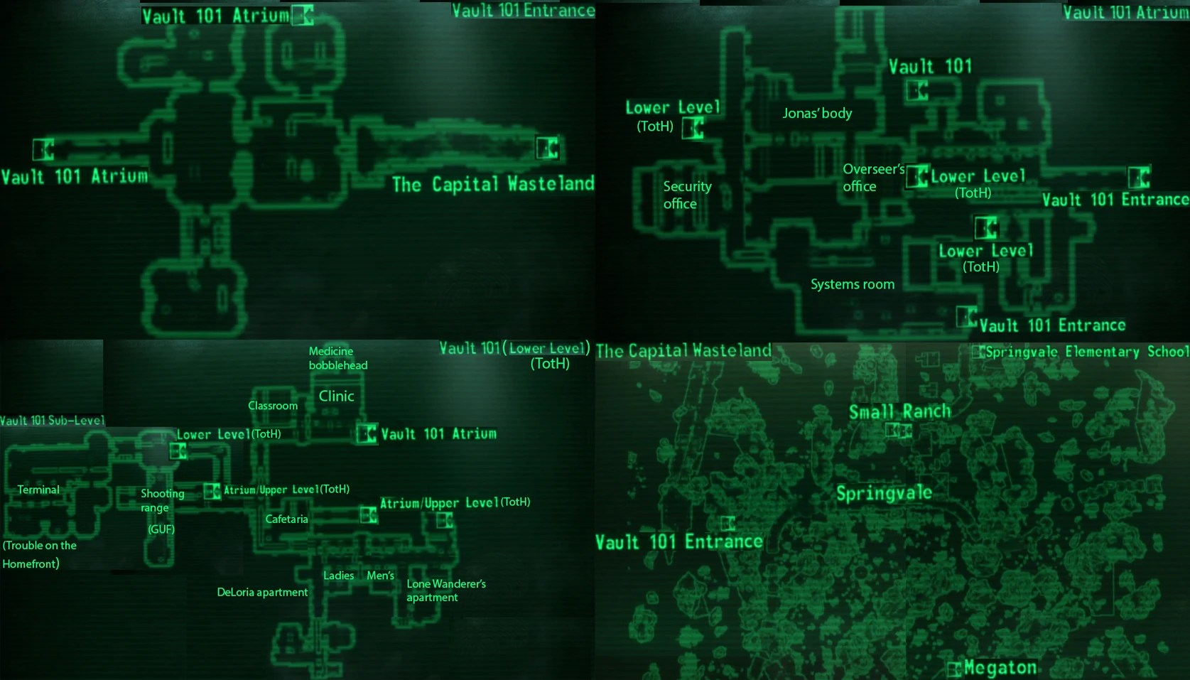 Image Vault 101 Local Mapjpg Fallout Wiki FANDOM Powered By Wikia