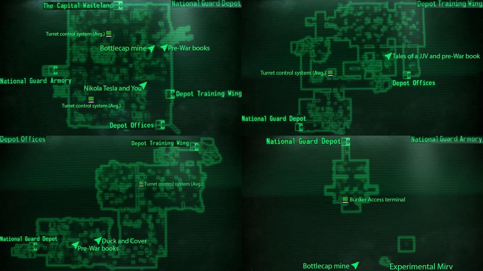 Image National Guard Depot Mapjpg Fallout Wiki FANDOM Powered By Wikia