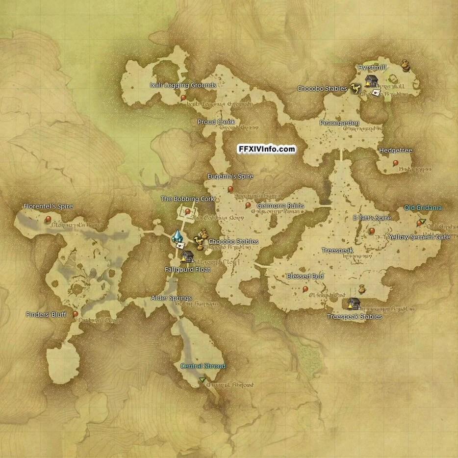Ffxiv Central Shroud Treasure Maps - Exploring Mars
