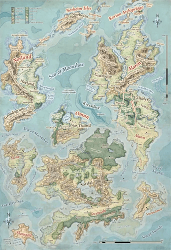 Map Of Fearun : fearun, Faerun, World, Atlas