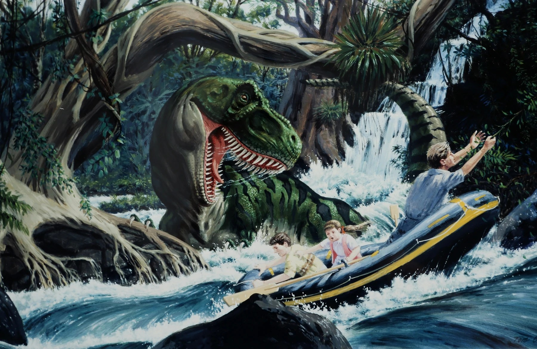 Abandoned Car In Swamp Wallpaper Tyrannosaurus Rex Novels Jurassic Park Wiki Fandom
