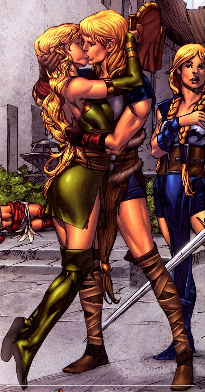 Marvel Enchantress Kisses Man