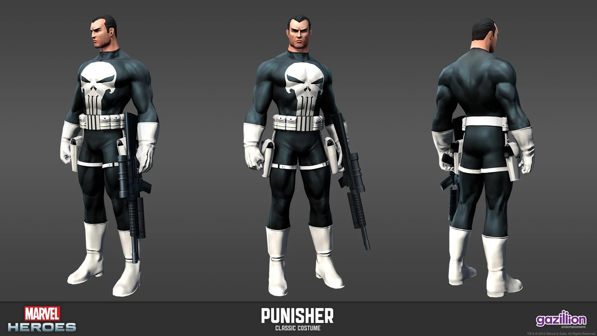 Classic Marvel Heroes Punisher Costumes