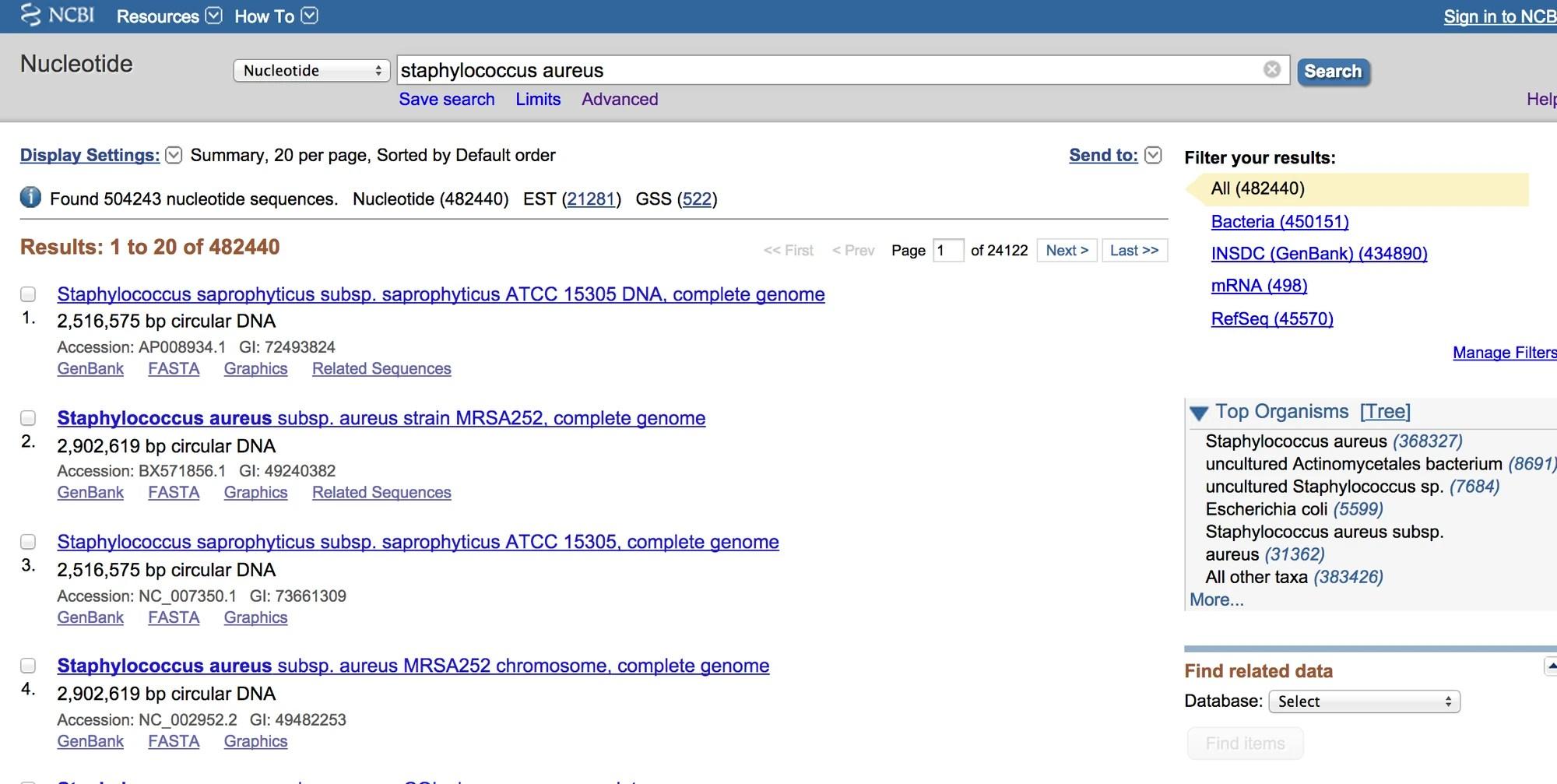 NCBI Nucleotide Database   MMG 233 2014 Genetics & Genomics Wiki   Fandom