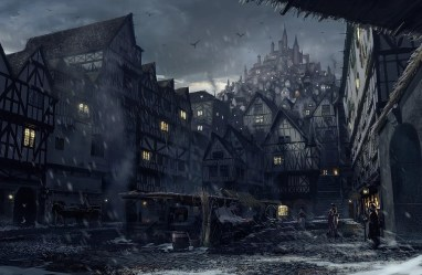 fantasy dark village medieval town landscape concept street august guild event revamping madness location wallpapers sanctuary guard towns wikia nightmares