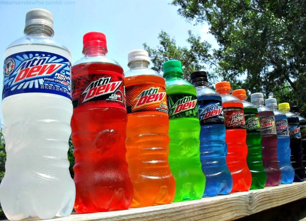 sidekick bottles mountain dew