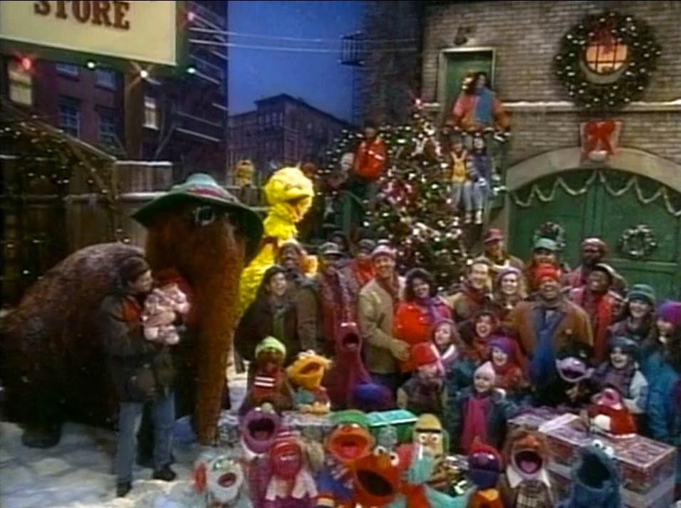 Christmas Street Sesame Vhs Saves Elmo
