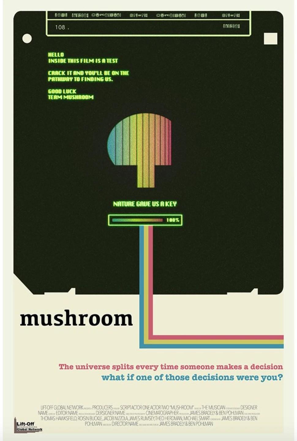 hight resolution of mushroom poster