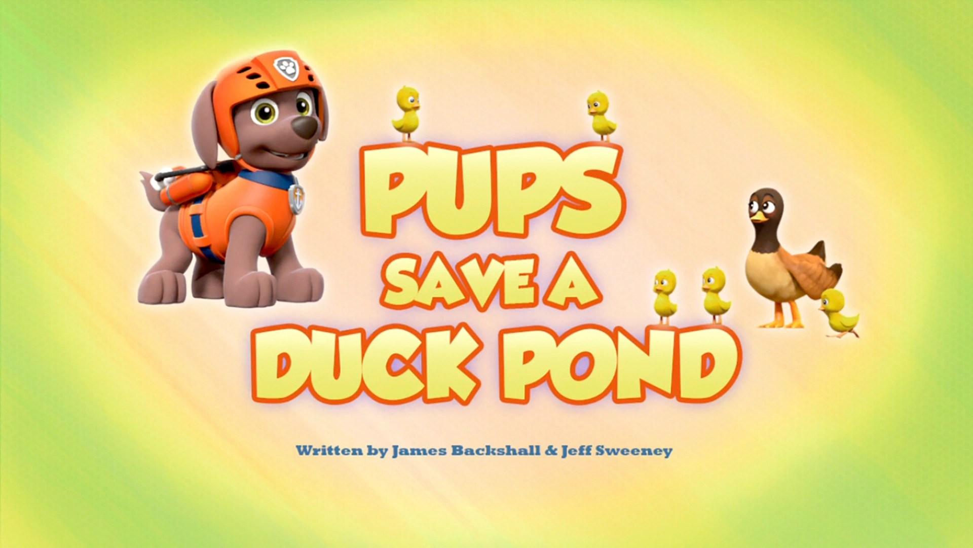 Pups Save A Duck Pond PAW Patrol Wiki FANDOM Powered