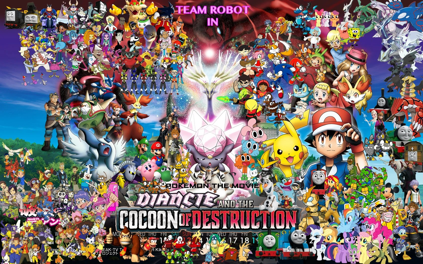 Fireman Sam 3d Wallpaper Team Robot In Pokemon Diancie Amp The Cocoon Of Destruction