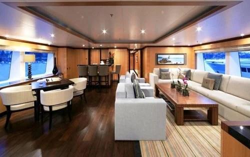 Image 4 Contemporary Yacht Interior Design Of Amnesia Motor Yacht1