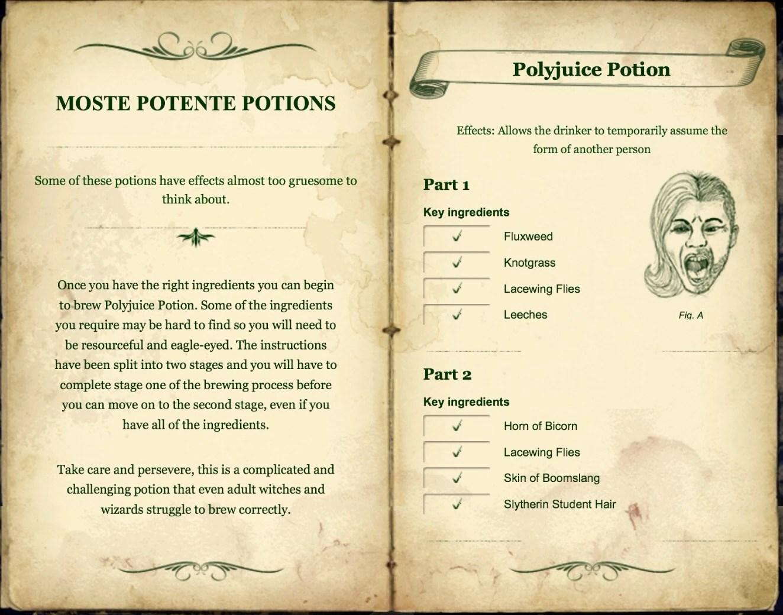 Half Blood Prince Advanced Potion Making