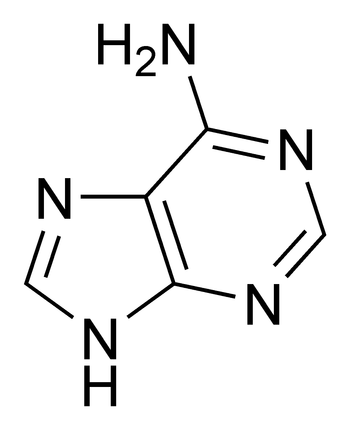 hight resolution of adenine chemical structure