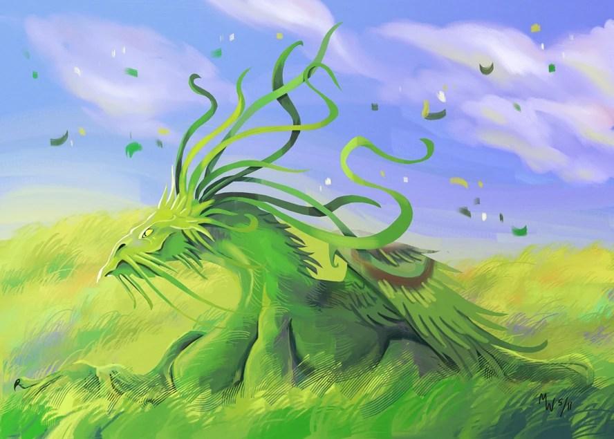 grass dragon world of