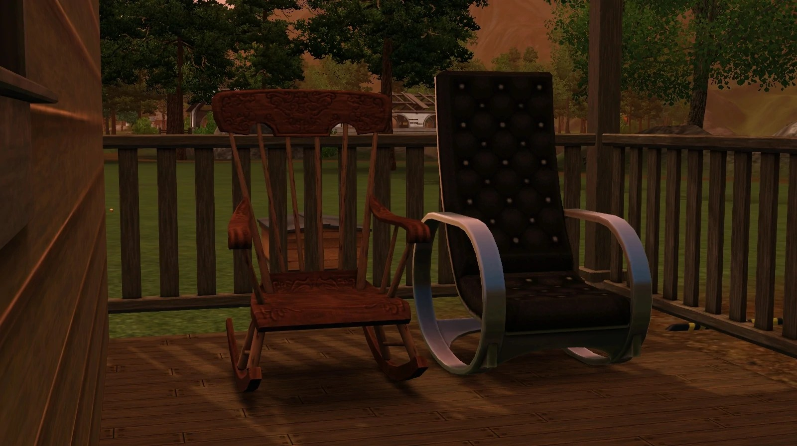hanging chair the sims 4 swimming pool lounge chairs rocking wiki fandom powered by wikia