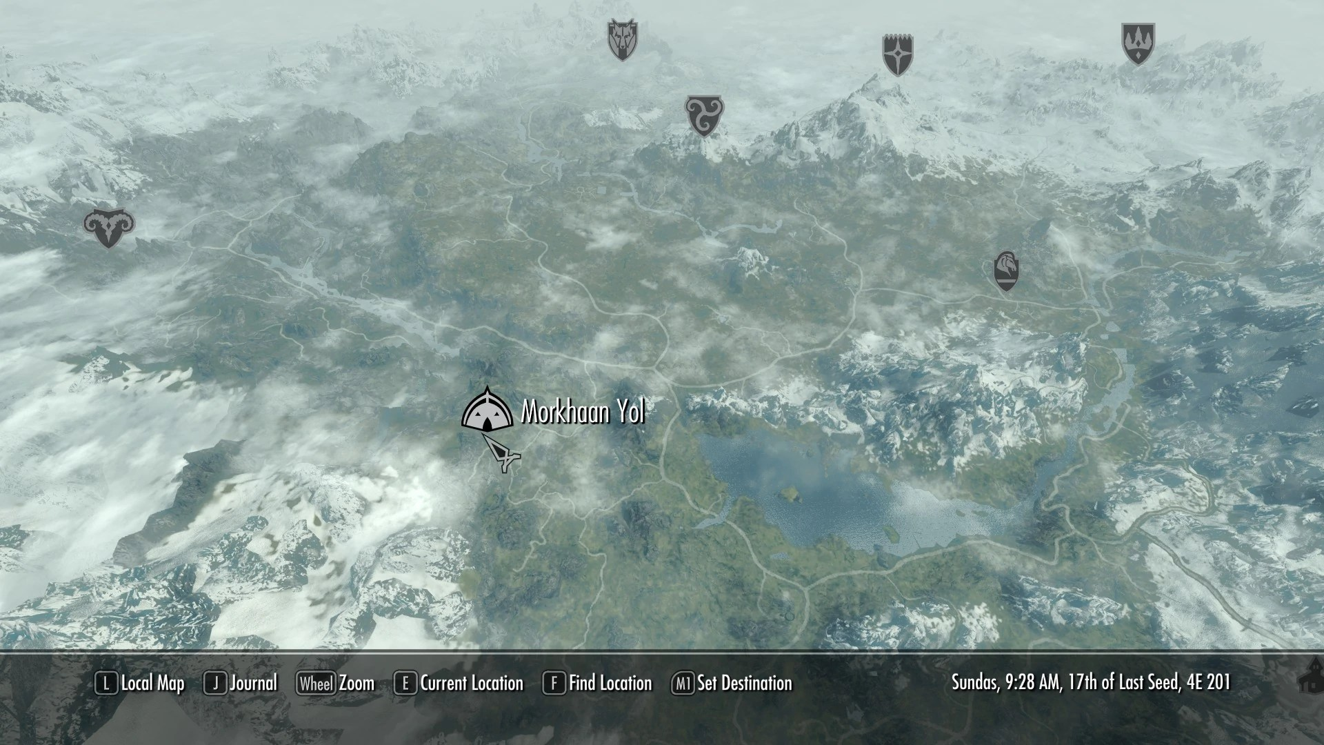 Bleak Falls Sanctum Map