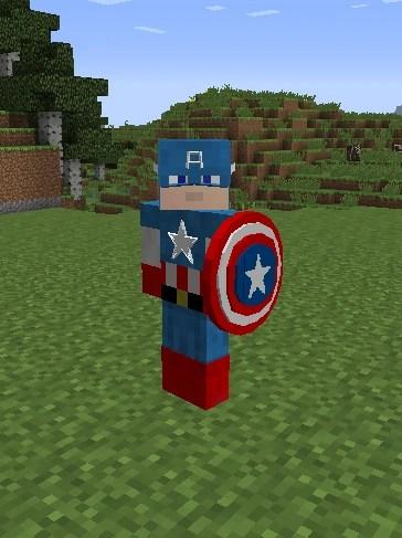 captain america minecraft legends