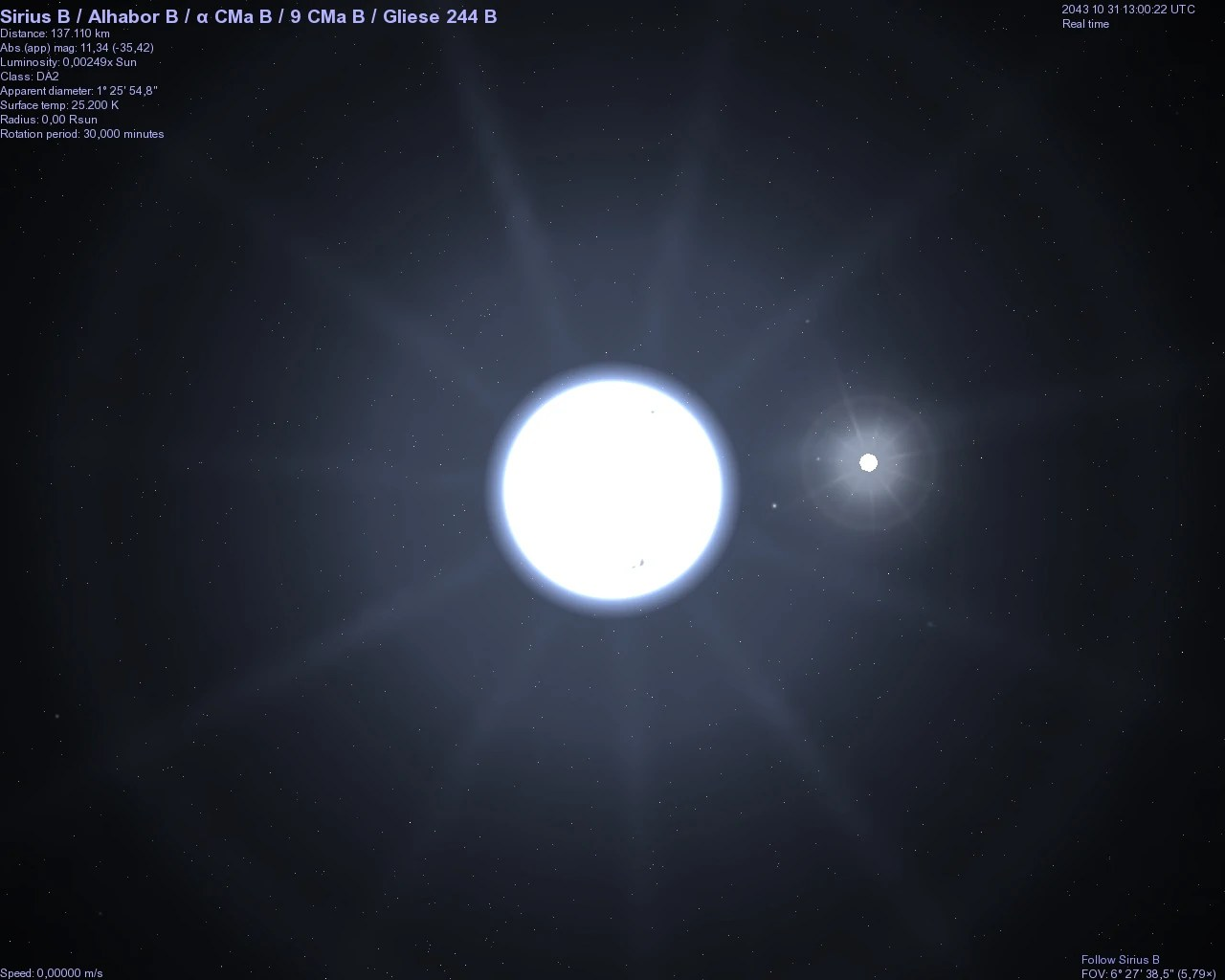 hight resolution of a type star