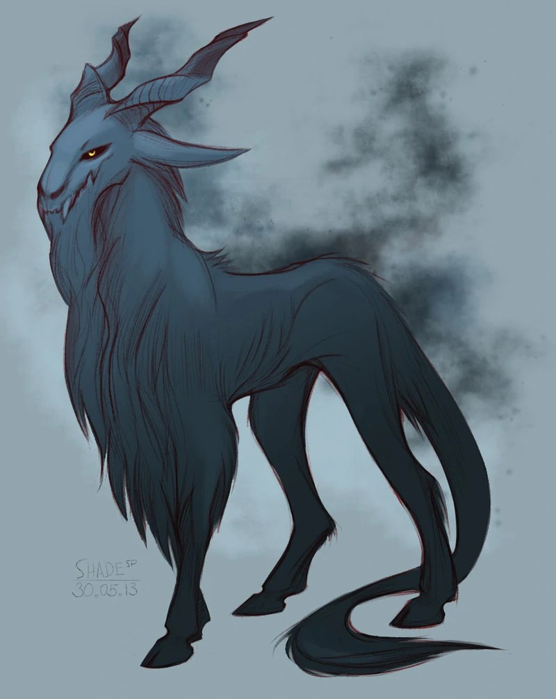 Dark Mythical Creatures Drawings