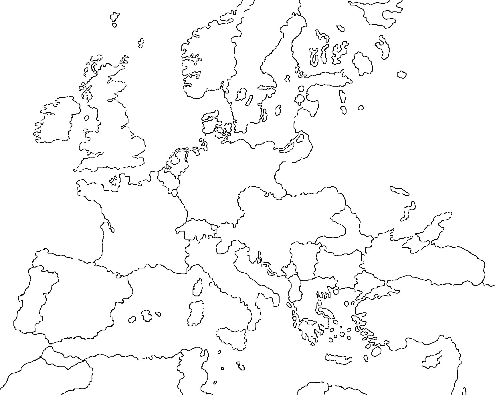 Map Of Europe Blank