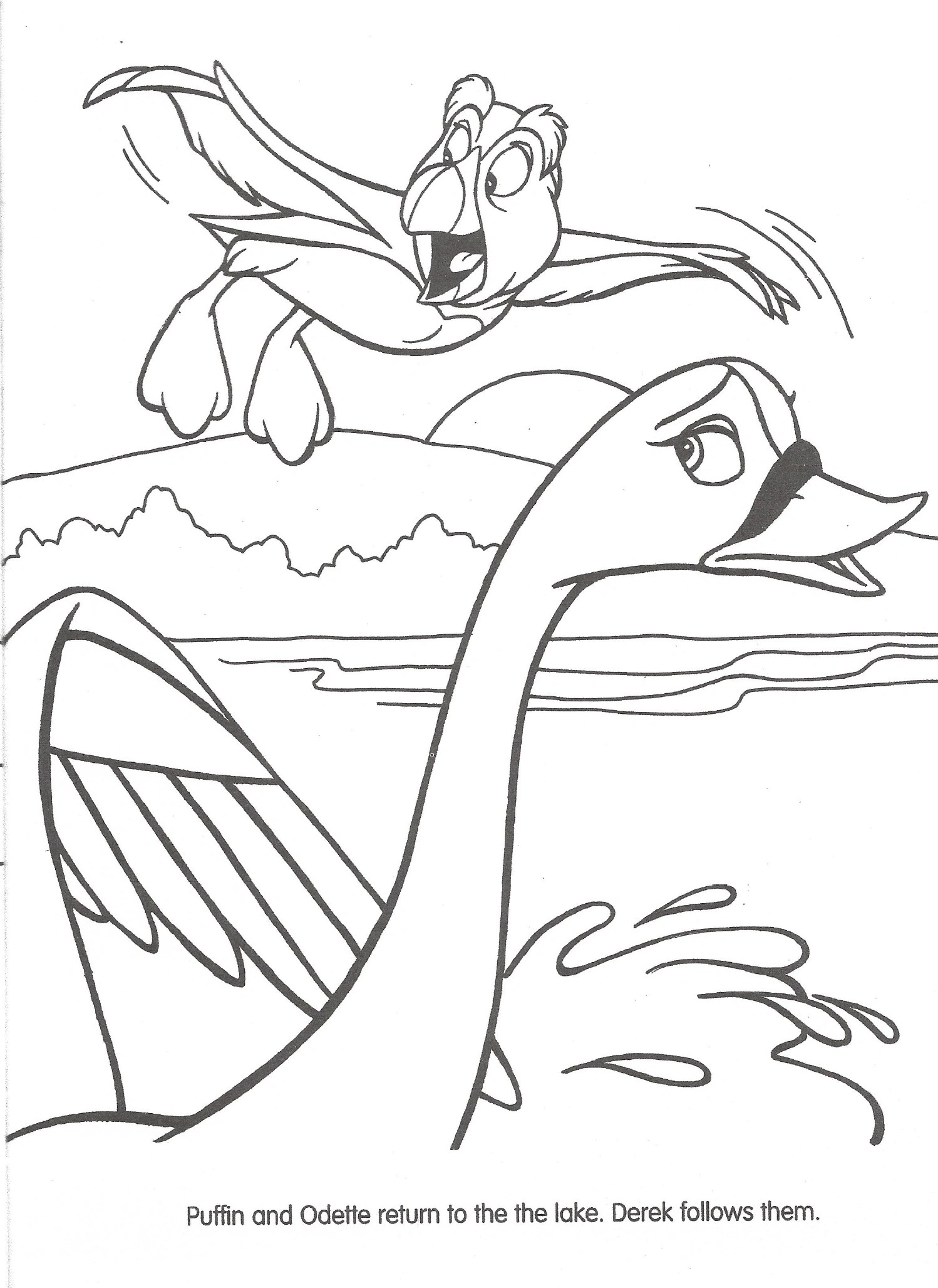Image Swan Princess Official Coloring Page 32 The Swan