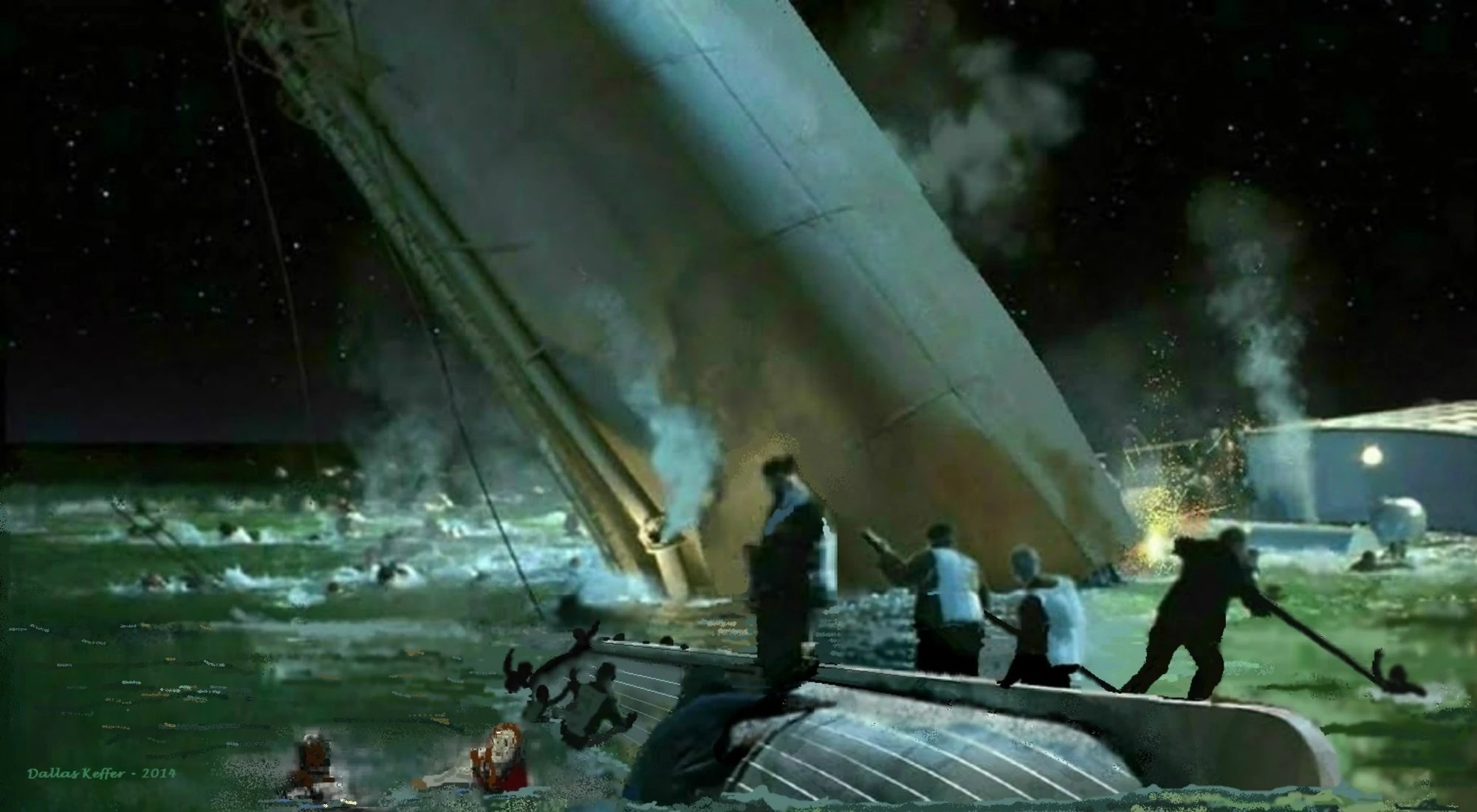 Funnel Collapses  Titanic Wiki  FANDOM powered by Wikia
