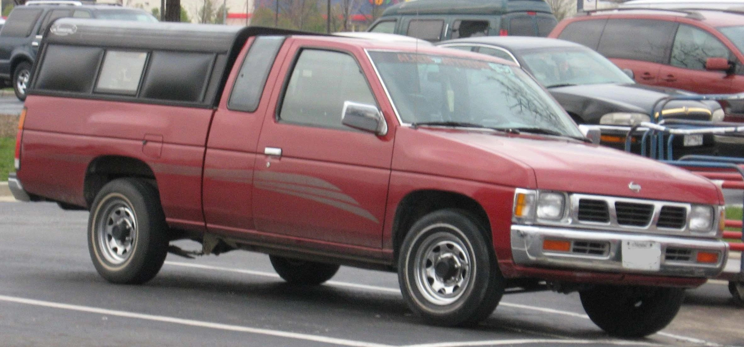 medium resolution of nissan hardbody truck with updated interior mild hood bumper and grille refresh 1993 5 1997
