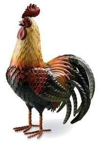 Big Metal Rooster - Easy Craft Ideas