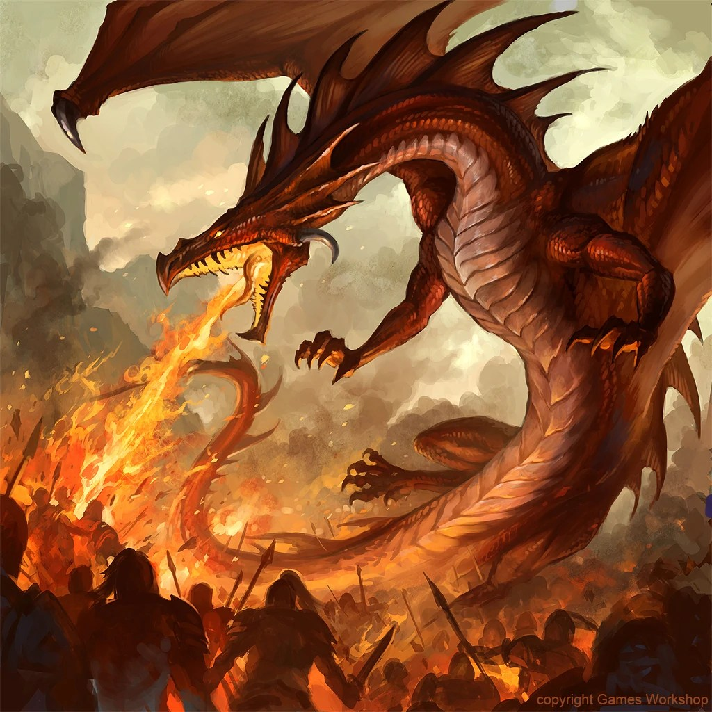 Fire-Breathing Dragon Medieval