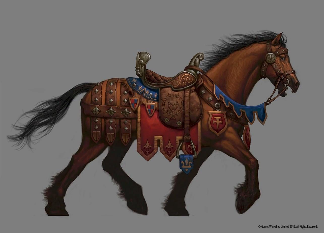 Bretonnian Charger  Warhammer Wiki  FANDOM powered by Wikia