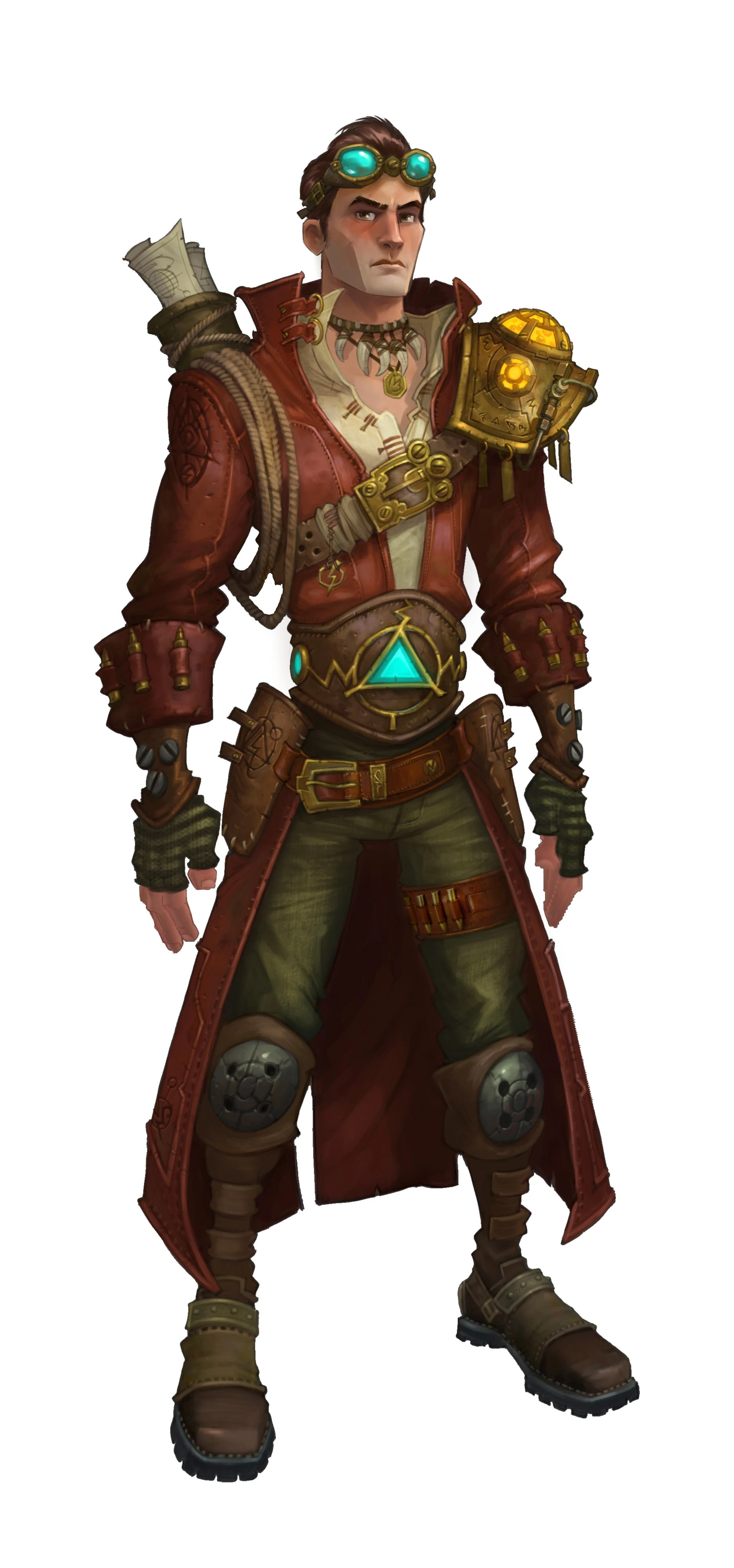 Steampunk Male Character Concept Art