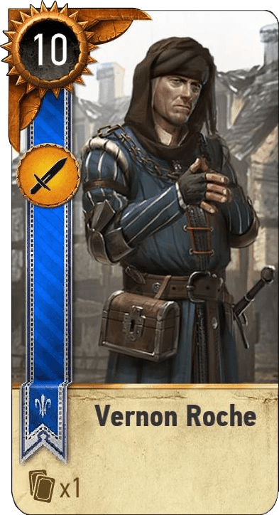 Vernon Roche Gwent Card Witcher Wiki FANDOM Powered By Wikia