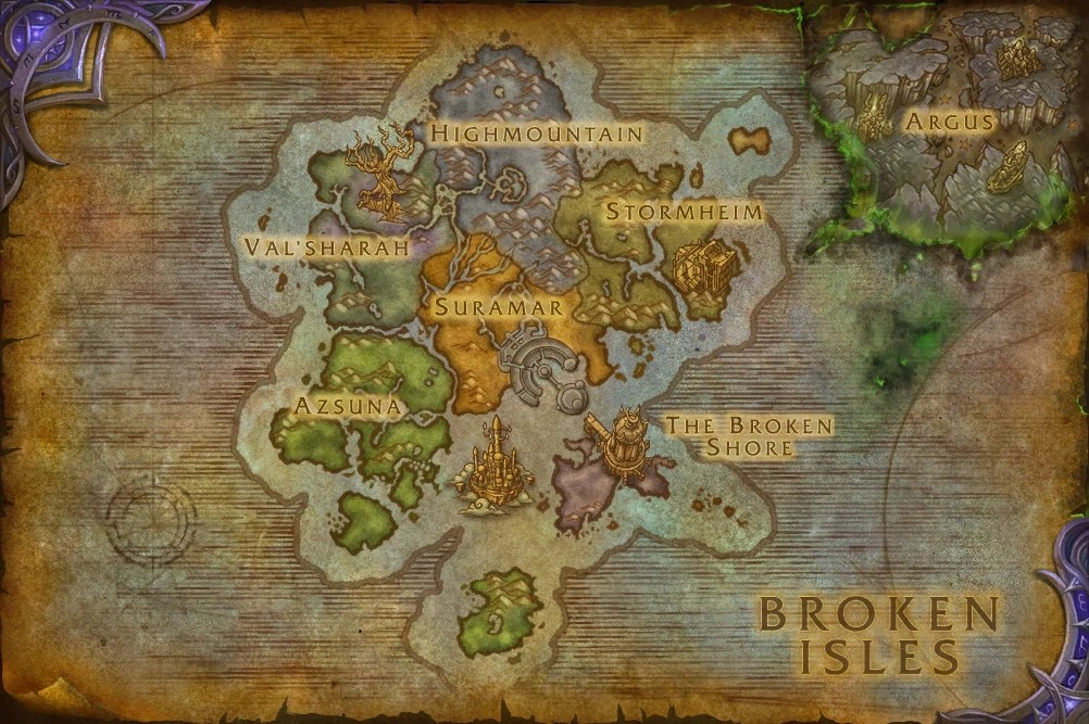 Broken Isles WoWWiki FANDOM Powered By Wikia