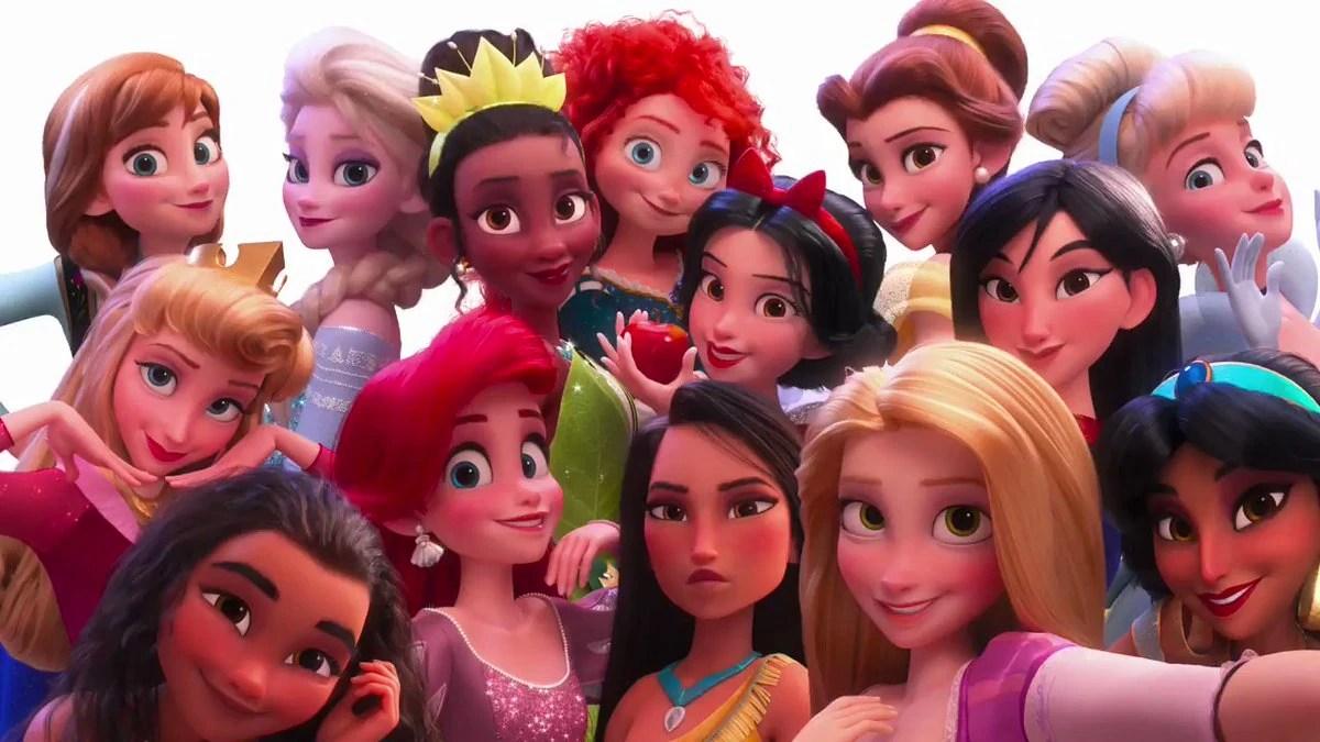 disney princesses wreck it