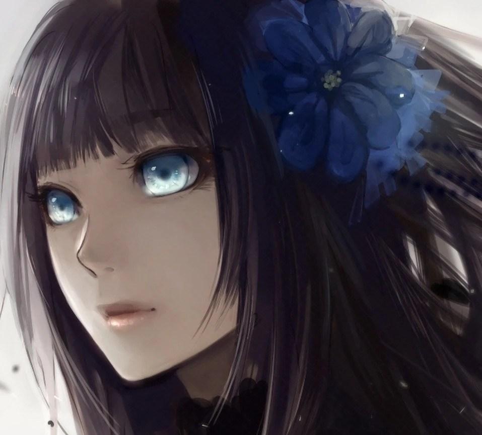 static anime girl