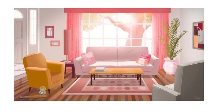 Generic Living Room Background Cartoon