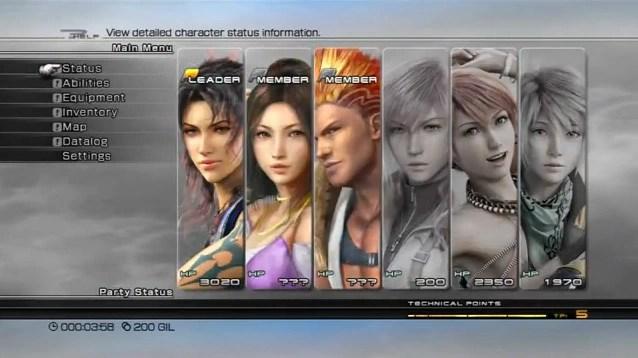 Menu Final Fantasy XIII Final Fantasy Wiki Fandom