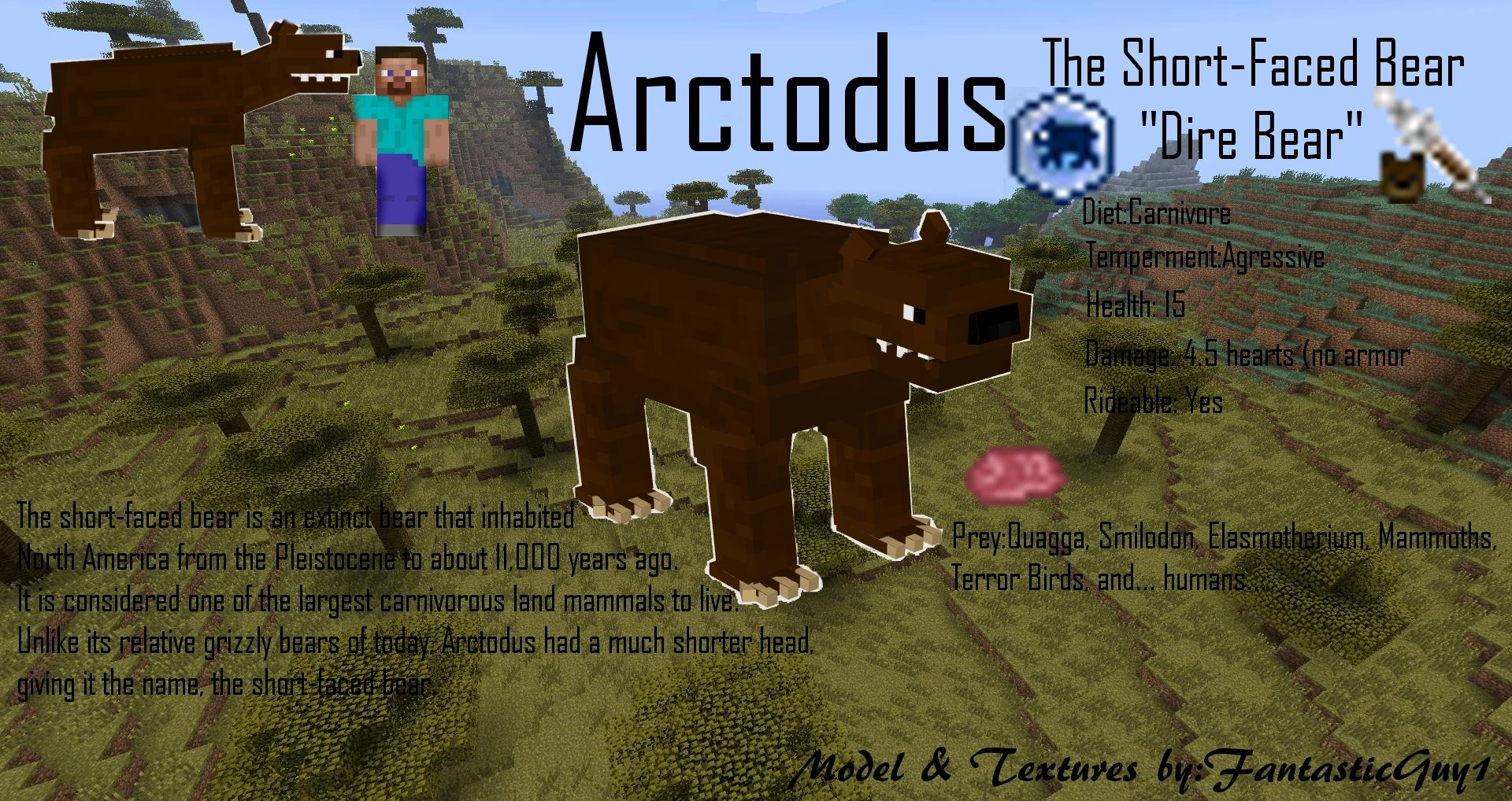 Arctodus The Model Fossils And Archeology Mod Revival Wiki Fandom Powered By Wikia