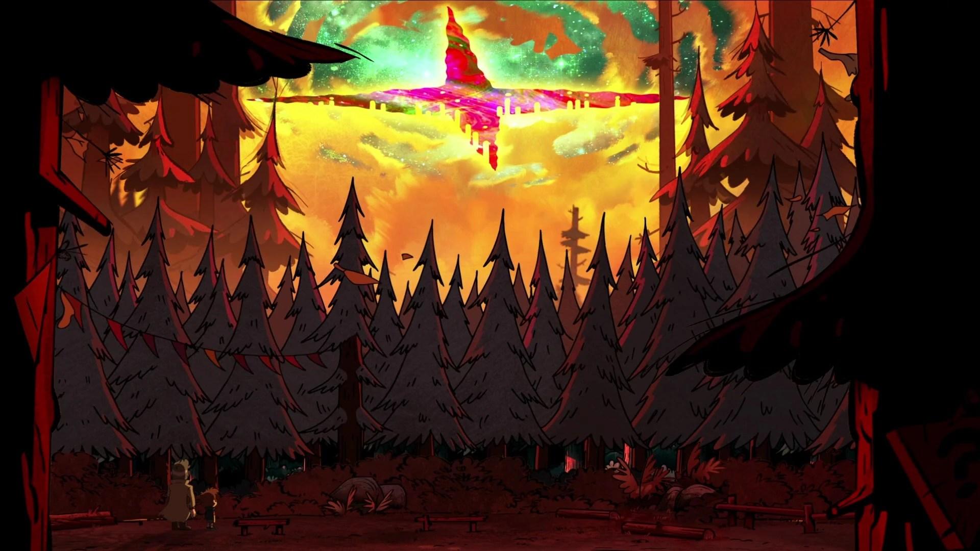 Gravity Falls Wallpaper Forest Странногеддон событие Гравити Фолз Вики Fandom