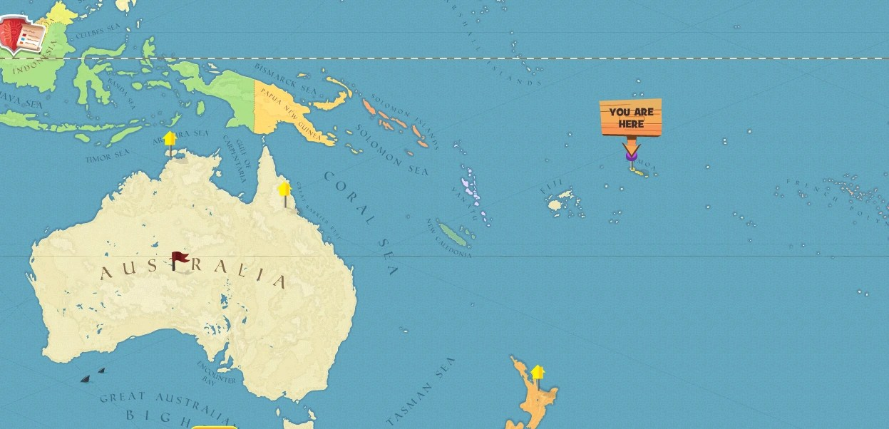Image Samoa world mappng Here Be Monsters Wiki FANDOM powered by Wikia