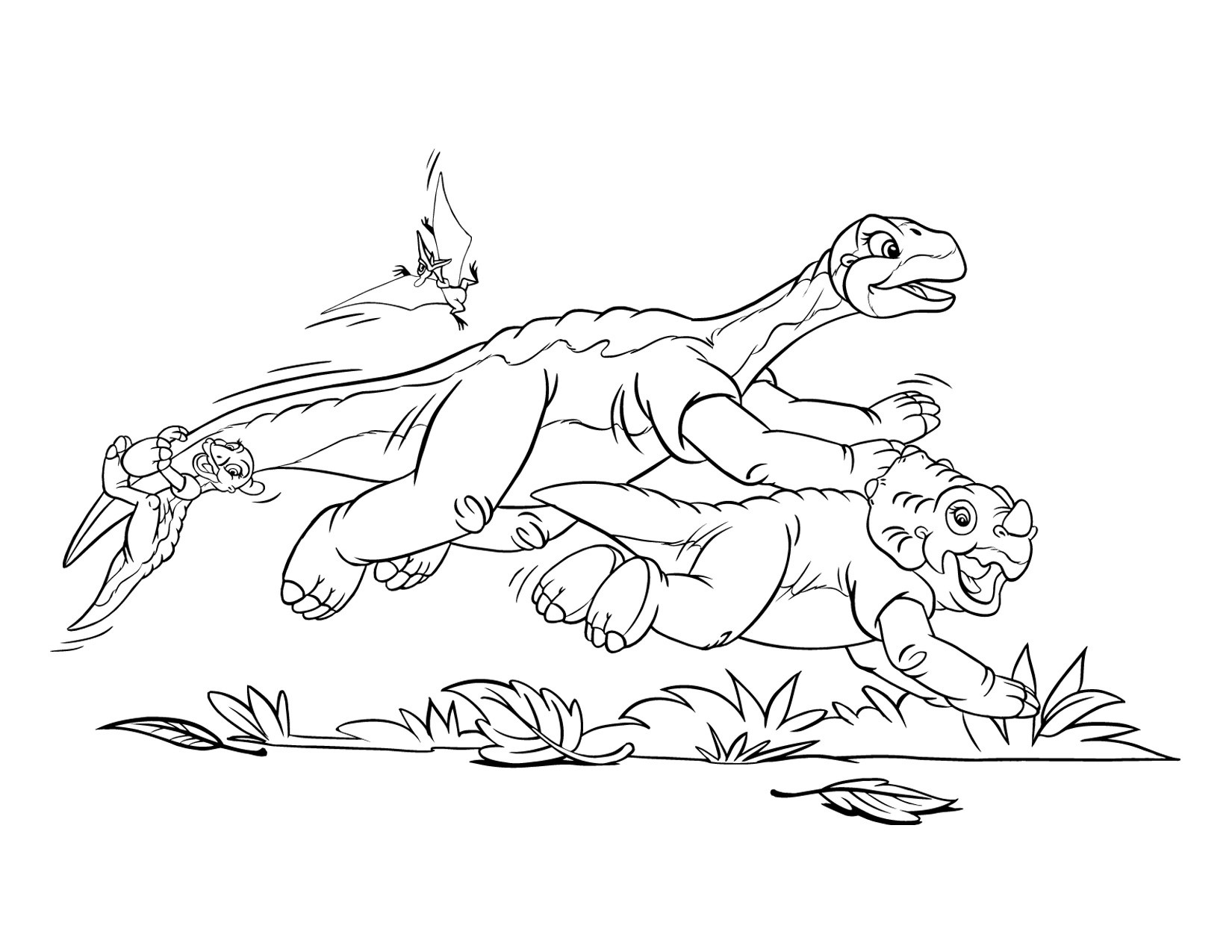 Image - Coloring page 1 movie 5png Land Before Time