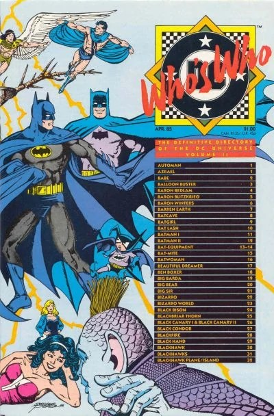 Who S Who The Definitive Directory Of The Dc Universe Vol