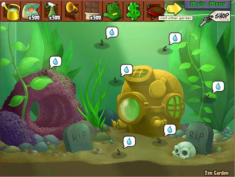 Image Sprout On Zen Garden Aquarium Plants Vs Zombies