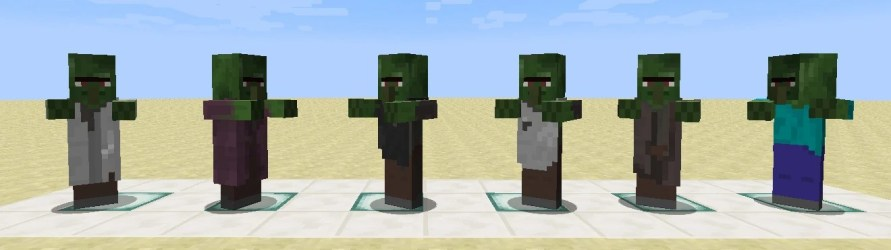 villagers villager minecraft zombie profession zombified wikia total guide