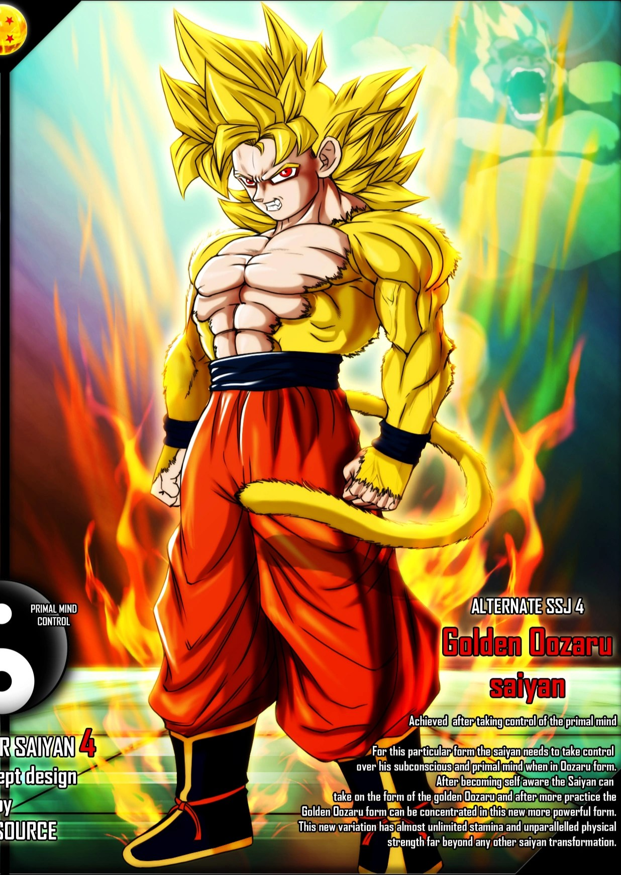 Transformation Quotes In The Yellow Wallpaper Golden Oozaru Saiyan Ultra Dragon Ball Wiki Fandom